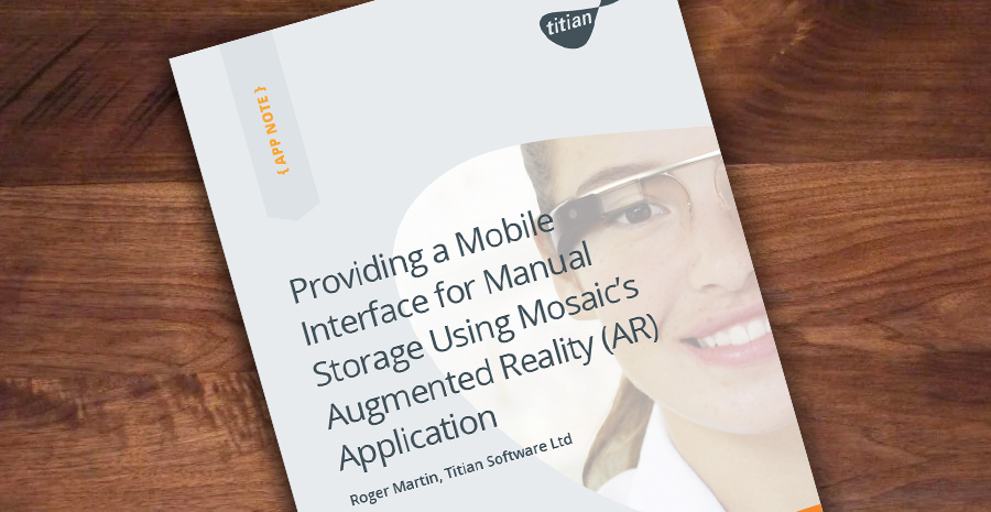 Providing a Mobile Interface for Manual Storage Using Mosaics Augmented Reality (AR) Application Cover