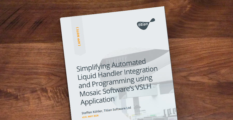 Liquid Handling in Mosaic Sample Management Software with the VSLH Module