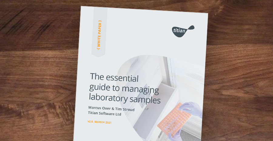 The essential guide to managing laboratory samples Cover